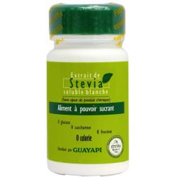 Stévia poudre blanche Rébaudioside pur 20gr - Guayapi