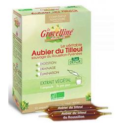Aubier de tilleul du Roussillon Bio 30 ampoules de 10 ml - La Gravelline