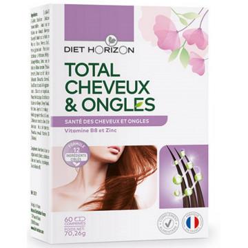 Total Cheveux et ongles 60 comprimés - Diet Horizon