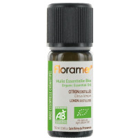 Huile essentielle bio Citron distillé 10ml Florame, aromatic provence,