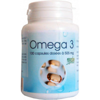 Omega 3 505mg 100 capsules - GPH Diffusion fonction cardiovasculaire Aromatic provence