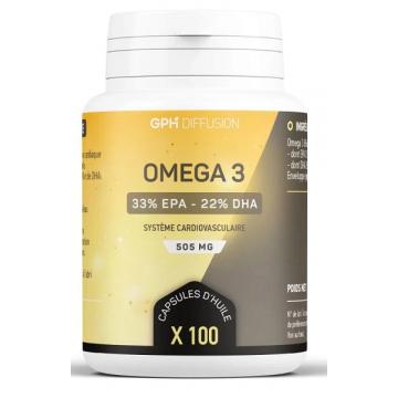 Omega 3 505mg 100 capsules - GPH Diffusion