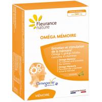 Oméga Mémoire 30 gélules et 30 capsules - Fleurance nature oméga 3 ginkgo curcuma Aromatic provence
