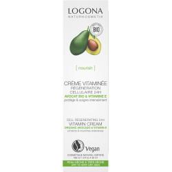 Crème vitaminée régénération cellulaire avocat bio 30ml - Logona