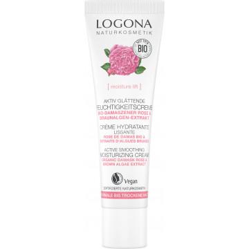 Crème jour hydratante et lissante rose de Damas bio et Kalpariane 30ml - Logona