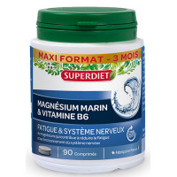 Magnésium marin Super Diet, Magnésium marin B6 90 comprimés- aromatic provence