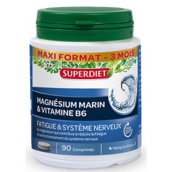 Magnésium Marin + Vitamine B6 90 comprimés Super Diet