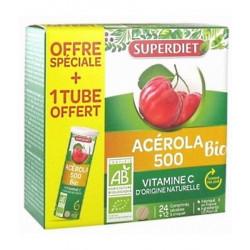 Acérola bio 500 1 tube offert soit 36 comprimés - Super Diet