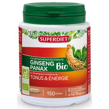 Ginseng Bio Tonus et énergie 150 gélules - Super Diet