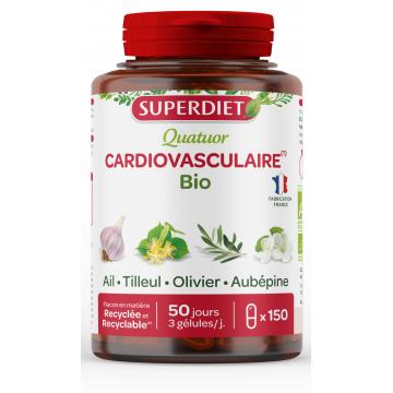 Quatuor  Ail Olivier Tilleul Aubépine bio 150 gélules - Super Diet