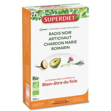 Quatuor Chardon marie Radis Noir Romarin Artichaut 20 Ampoules - Super Diet
