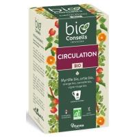 Infusion Circulation Bio 20 sachets - Bio Conseils vigne rouge jambes légères Aromatic provence