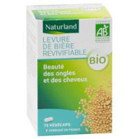 Levure de Bière revivifiable bio 75 Gélules Végécaps - Naturland cheveux peau beauté flore digestive Aromatic provence