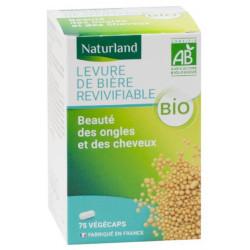 Levure de Bière revivifiable bio 75 Gélules Végécaps - Naturland