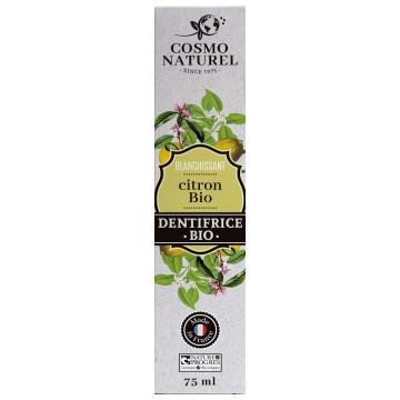 Dentifrice Citron bio blanchissant 75ml - Cosmo Naturel