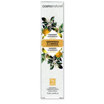 Dentifrice Mandarine bio, Argile blanche, Calendula 75ml  - Cosmo Naturel
