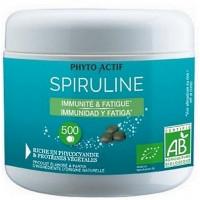 Spiruline bio 100 pour cent naturelle Immunité Fatigue 500 comprimés - Phyto-actif