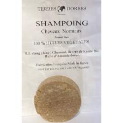 Shampoing solide Cheveux normaux 100 pour cent végétal 60 gr - Terres dorées