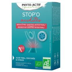 Stop'O acidités 10 sticks buvables - Phyto-actif