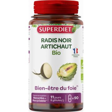 Radis Noir et Artichaut Bio 90 gélules Super Diet
