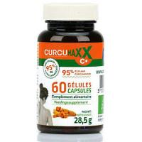 Curcumaxx C Plus 60 gélules Bio 95 pour cent - Biocible curcuma pipérine gingembre ortie Aromatic Provence