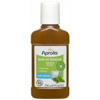 Bain de bouche Propolis et Xylitol goût Menthe 250ml - Aprolis hygiène bucco dentaire Aromatic Provence