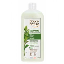 Shampoing des familles sans sulfates tous cheveux Thé vert d'Inde 1L - Douce Nature