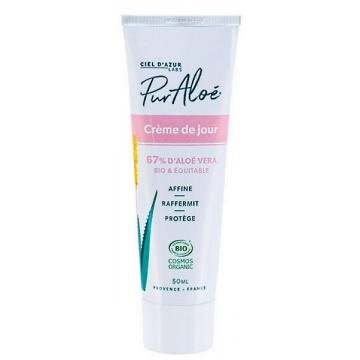 Crème visage à l'Aloe Vera 67% 50ml Pur Aloe