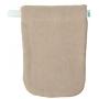 1 gant de toilette en coton biologique écru x1 - Popolini
