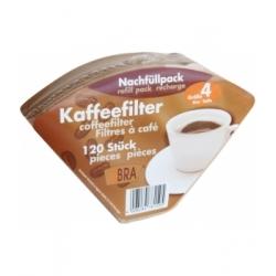 120 filtres à café non blanchis n°4 x120 - Droguerie Ecologique