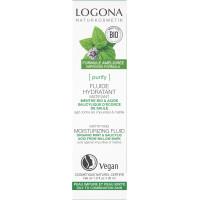 Fluide hydratant et matifiant menthe bio et acide salicylique 30ml - Logona