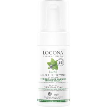 Mousse nettoyante menthe bio et acide salicylique 100ml - Logona