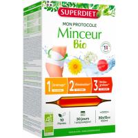 Protocole Minceur 30 ampoules de 15ml - Super Diet draineur élimination brûleur de graisses cure complète 30 jours