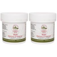 Lot de 2 Multi Vitamines Minéraux 2x60 gélules 2 mois de cure Herboristerie de paris Aromatic provence