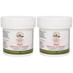 Lot de 2 Multi Vitamines Minéraux 2x60 gélules 2 mois de cure Herboristerie de paris