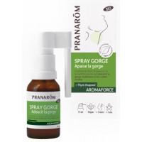 Spray gorge bio Aromaforce 15ml - Pranarôm huiles essentielles défenses gorge respiration Aromatic provence