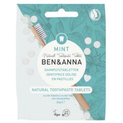 Dentifrice solide  goût menthe 100 pastilles sans fluor 36gr - Ben et Anna