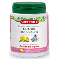 Onagre Bourrache bio 200 capsules Super Diet, bourrache onagre bio, Super Diet, aromatic provence,