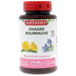 Onagre Bourrache bio 200 Capsules Super Diet