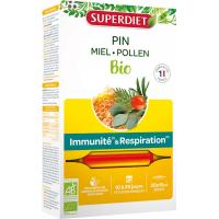Sève impériale défenses immunitaires confort respiratoire Bio 20 ampoules - Super Diet Aromatic provence