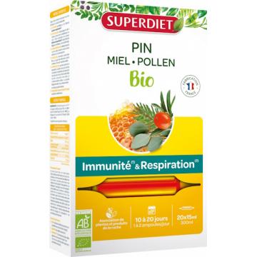 Sève impériale défenses immunitaires confort respiratoire Bio 20 ampoules - Super Diet