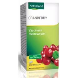 Cranberry Canneberge BIO 150 Gélules Végécaps - Naturland