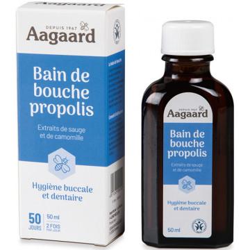 Bain de bouche bio à la Propolis 50ml - Aagaard