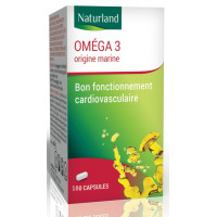 Oméga 3 180 Capsules de 520mg - Naturland epa dha fonction cardiaque Aromatic provence