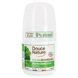 Déodorant à billes Menthe 24H peaux normales 50ml - Douce Nature