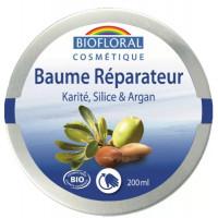 Baume réparateur Karité Silice Argan et Cire d'abeille 200ml - biofloral nutrition hydratation Aromatic provence
