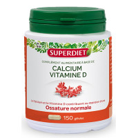 Calcium vitamine D 150 gélules Super Diet, calcium marin vitamine D, super diet, aromatic provence