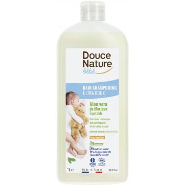 Bain Shampoing Bébé Aloé vera du Mexique 1L - Douce Nature