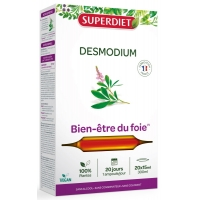 Desmodium Bien être du Foie 20 Ampoules de 15ml - Super Diet plante hépatique digestion Aromatic provence