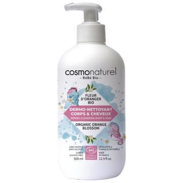 Dermo nettoyant bébé cheveux et corps Fleur d'Oranger 500ml Bébé Bio Cosmo Naturel
